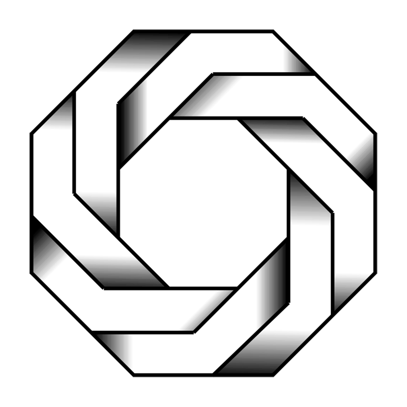 Learn easy to draw Twisted Octagon step 00