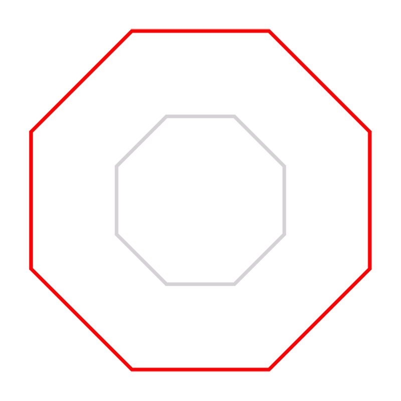 Learn easy to draw Twisted Octagon step 02