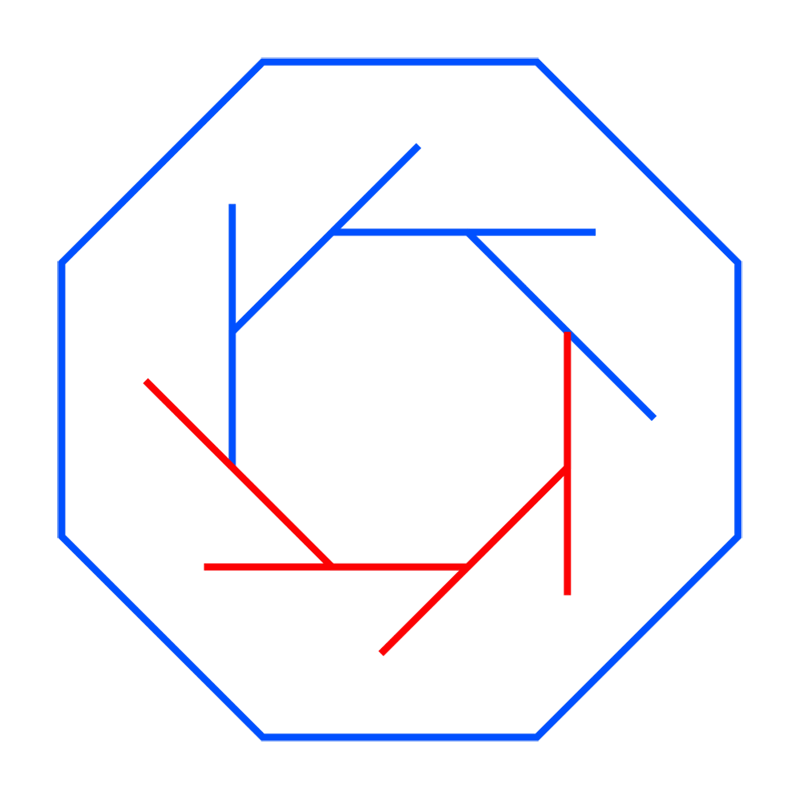 Learn easy to draw Twisted Octagon step 04