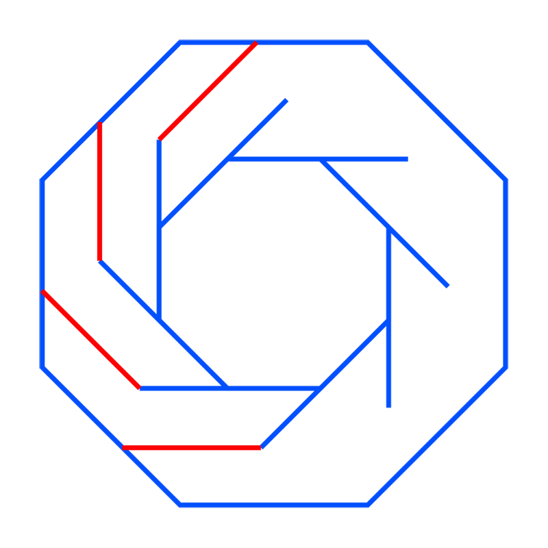 Learn easy to draw Twisted Octagon step 05