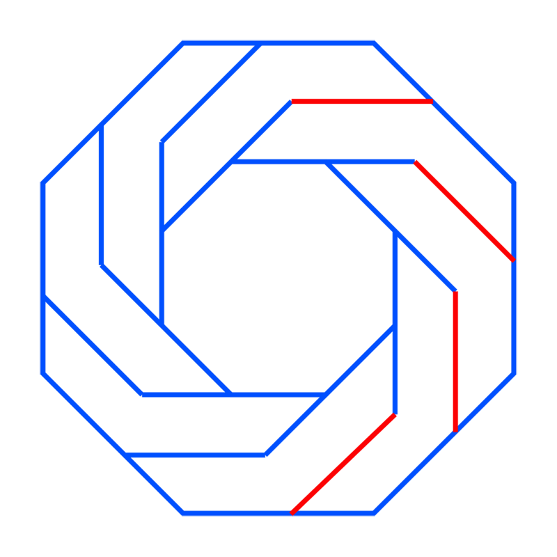 Learn easy to draw Twisted Octagon step 06