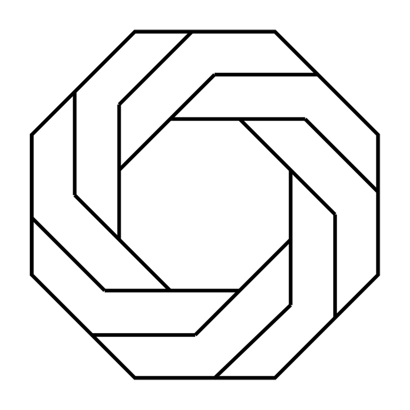 Learn easy to draw Twisted Octagon step 07