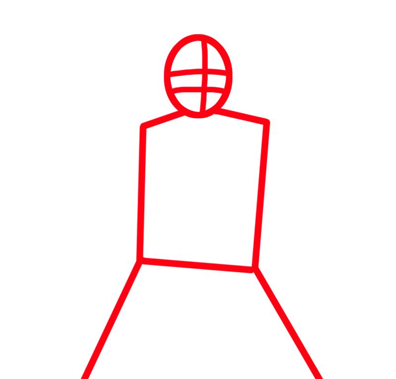 Learn easy to draw Ulquiorra Schiffer Bleach step 01