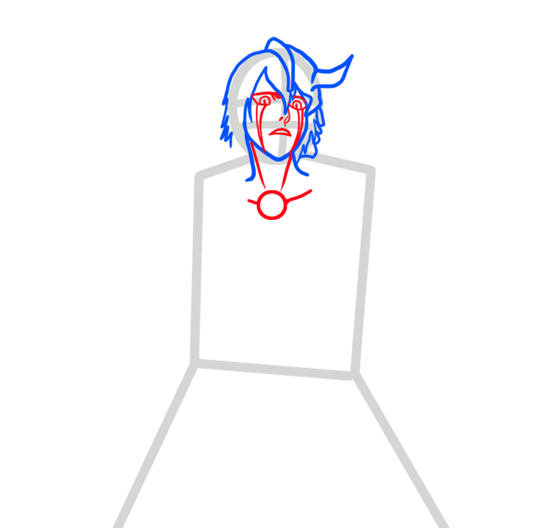 Learn easy to draw Ulquiorra Schiffer Bleach step 03