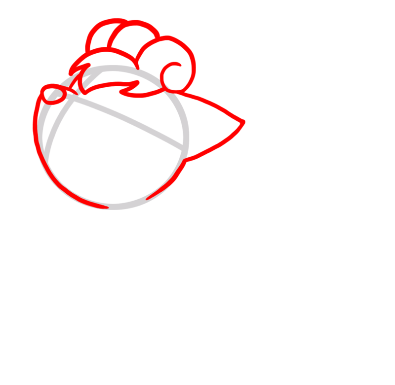 Learn easy to draw Vulpix Pokemons step 02