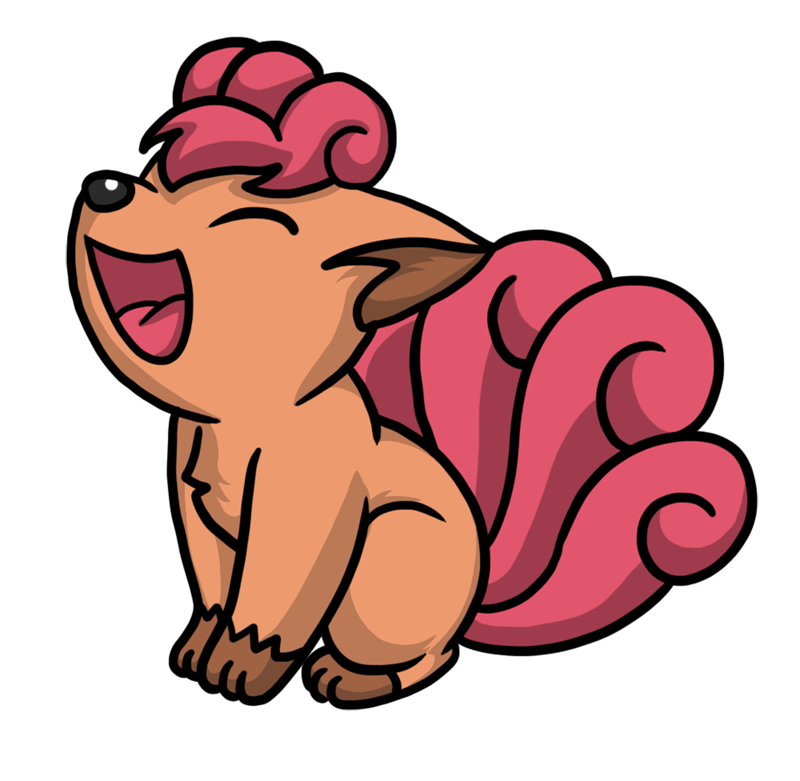 Learn easy to draw Vulpix Pokemons step 07