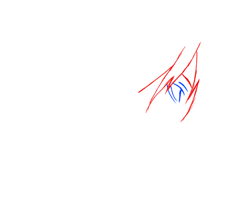 Learn easy to draw Yagami Face Death Note step 02