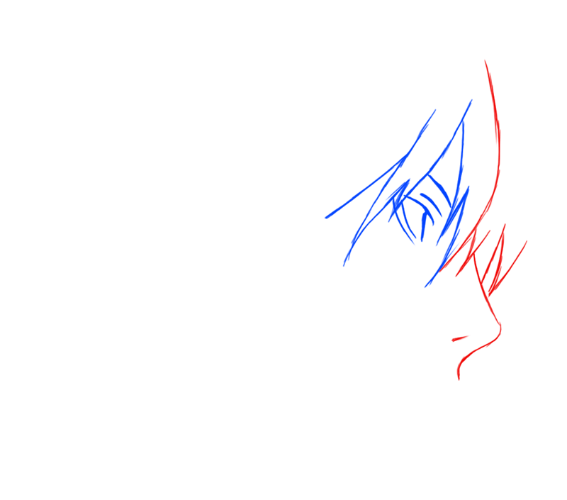 Learn easy to draw Yagami Face Death Note step 03
