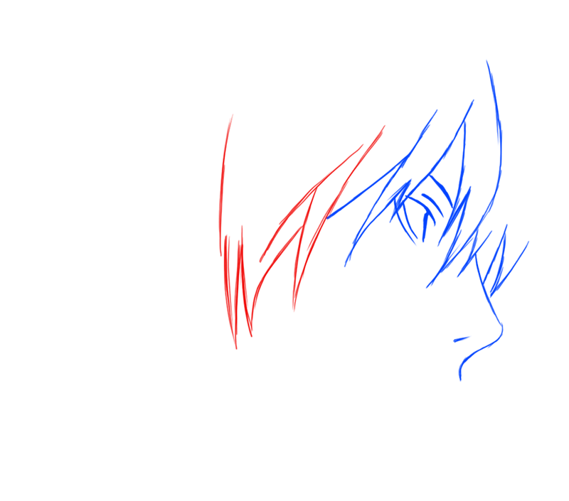 Learn easy to draw Yagami Face Death Note step 04