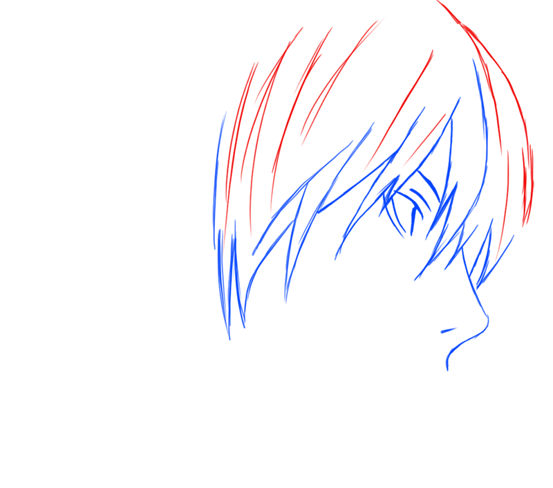 Learn easy to draw Yagami Face Death Note step 05
