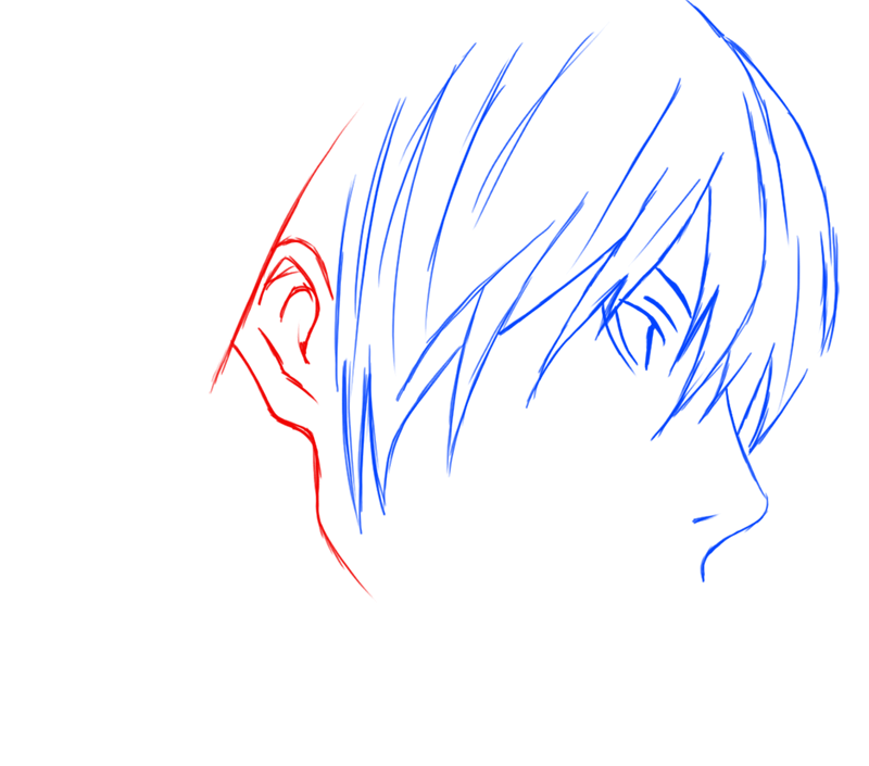 Learn easy to draw Yagami Face Death Note step 06