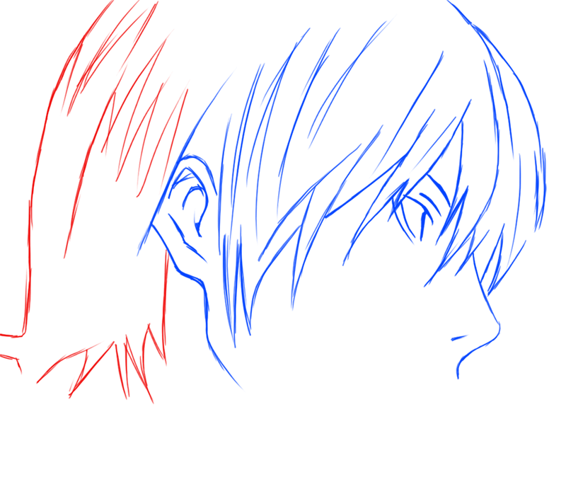 Learn easy to draw Yagami Face Death Note step 07