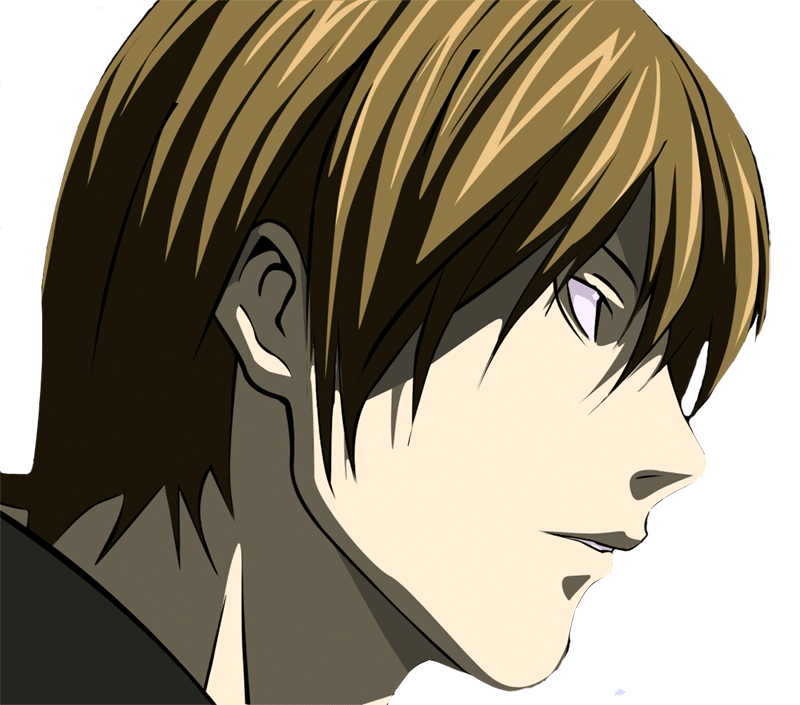 Learn easy to draw Yagami Face Death Note step 11