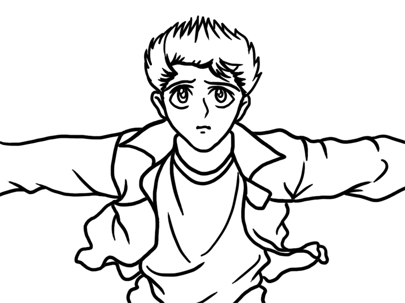 Learn easy to draw Yasuke Urameshi Yu Yu Hakusho step 06