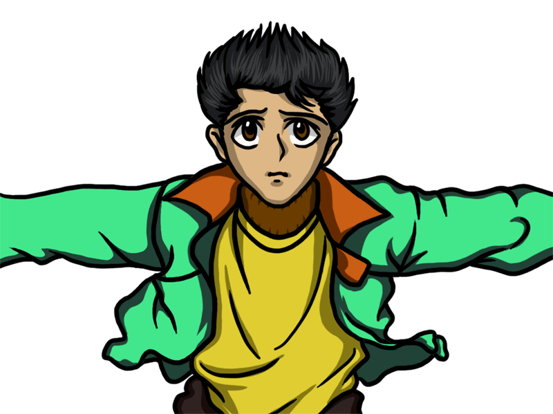 Learn easy to draw Yasuke Urameshi Yu Yu Hakusho step 07