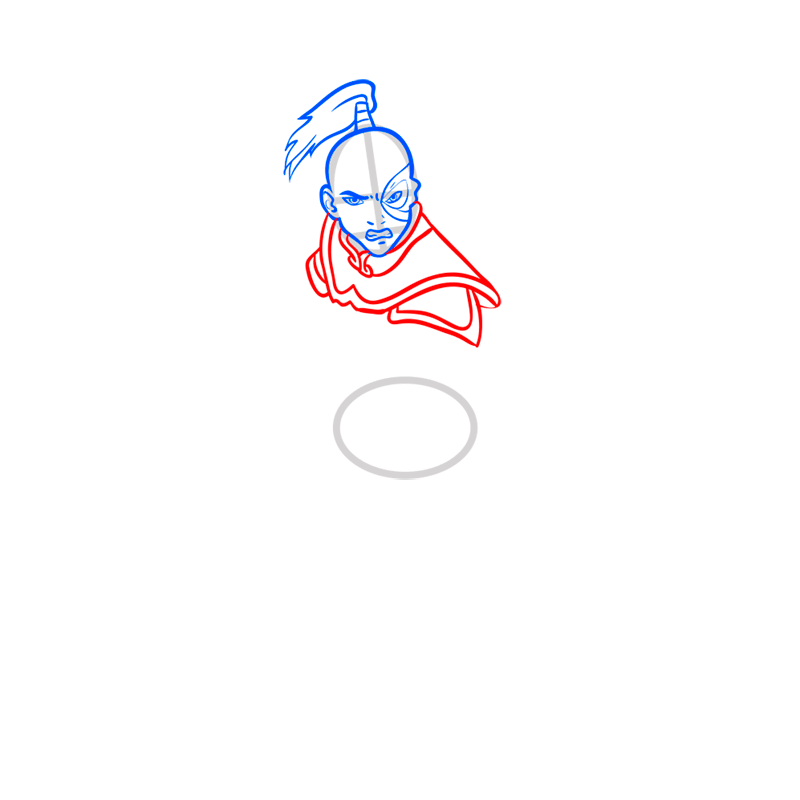 Learn easy to draw Zuko Avartar step 05