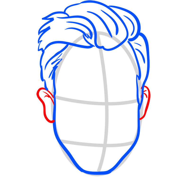Learn easy to draw Adam Levine step 05