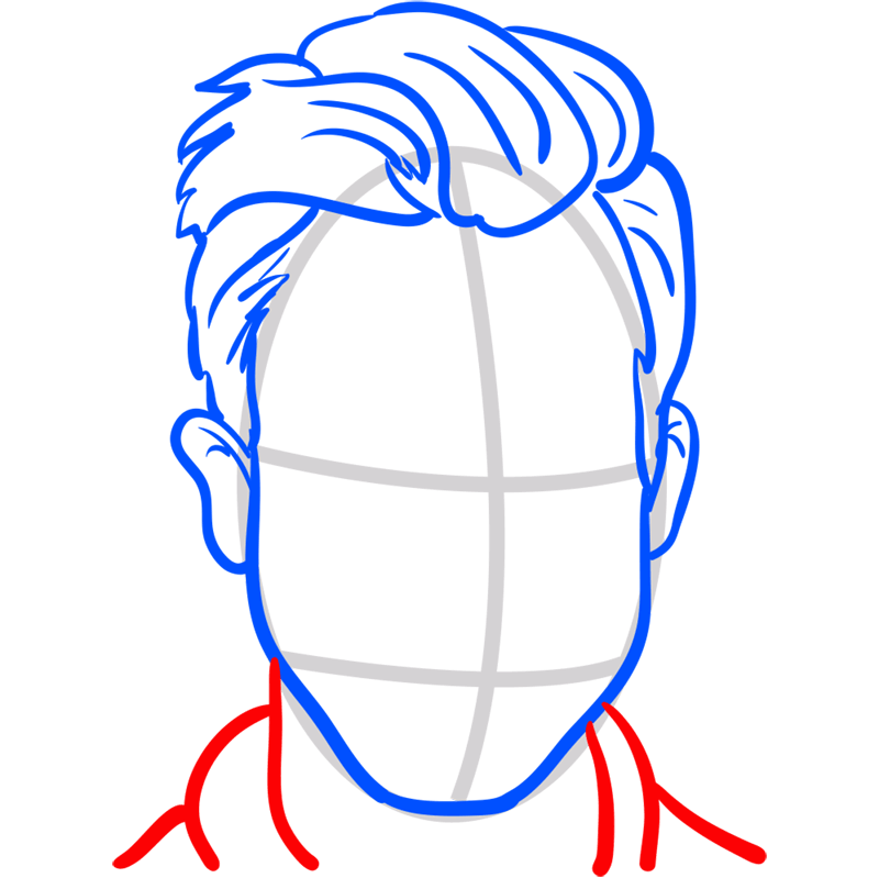 Learn easy to draw Adam Levine step 06