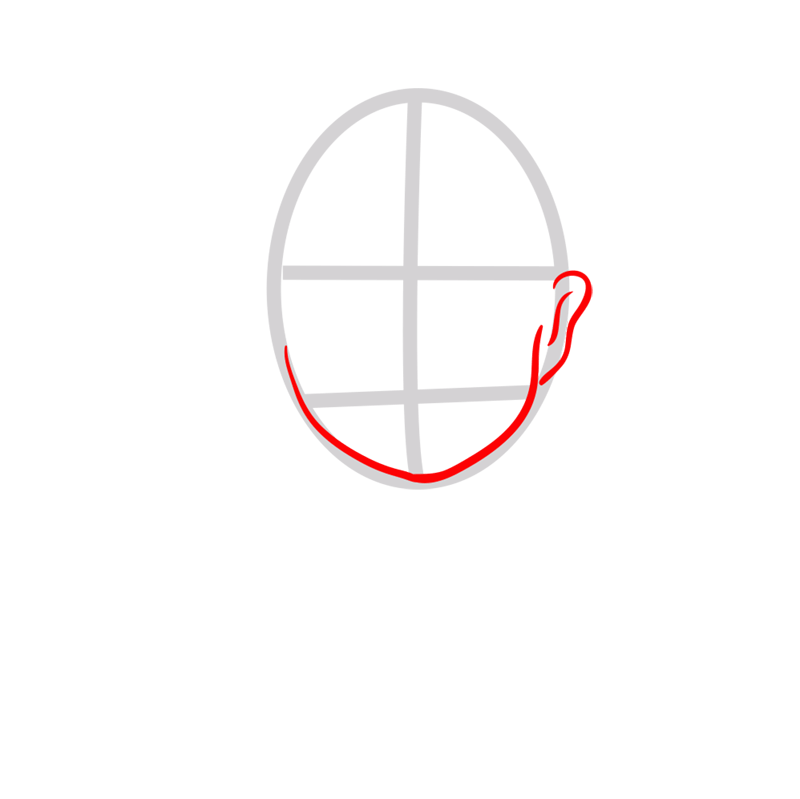 Learn easy to draw Angelina Jolie step 02