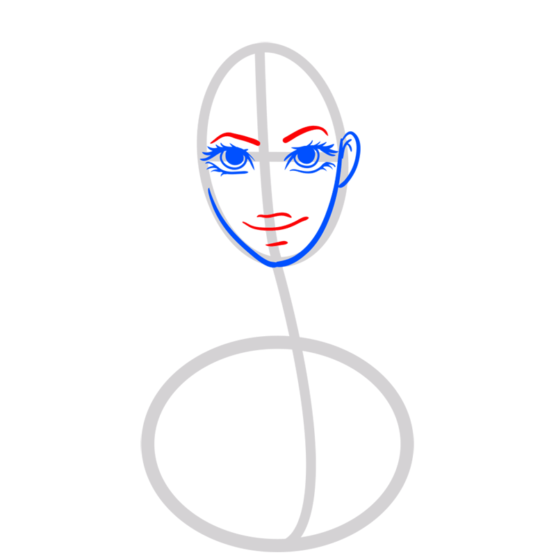 Learn easy to draw Beyonce step 04