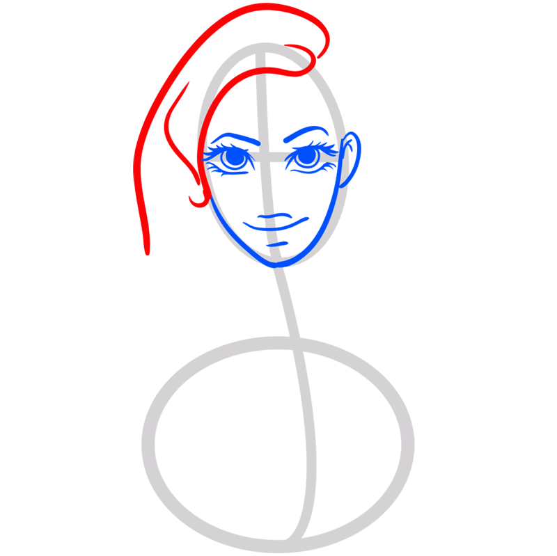 Learn easy to draw Beyonce step 05