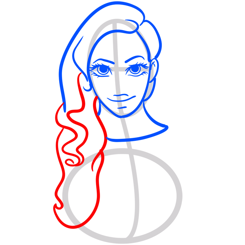 Learn easy to draw Beyonce step 08