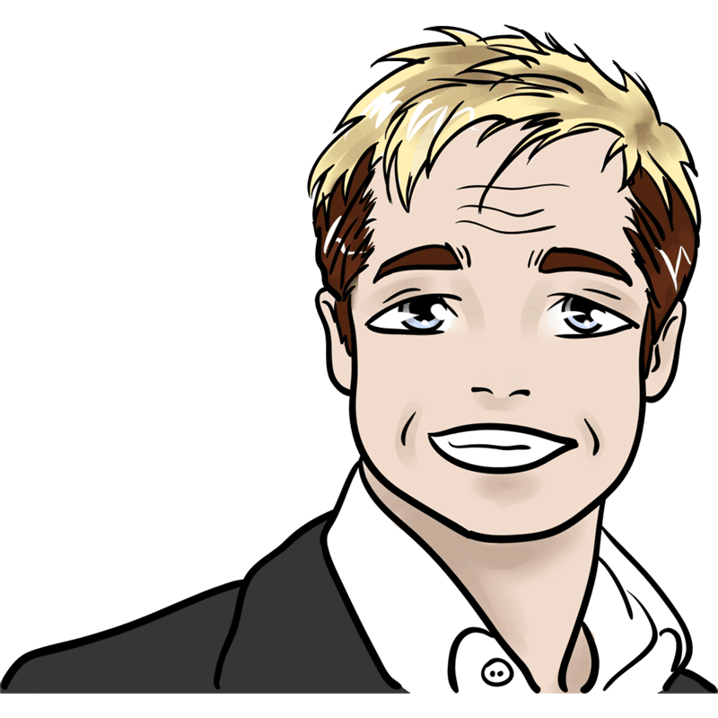 Learn easy to draw Brad Pitt step 00