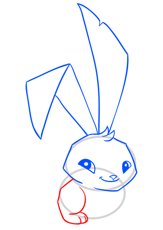 Learn easy to draw Bunny step 07