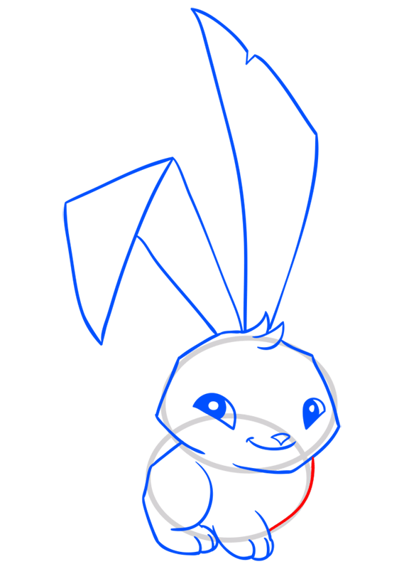 Learn easy to draw Bunny step 09