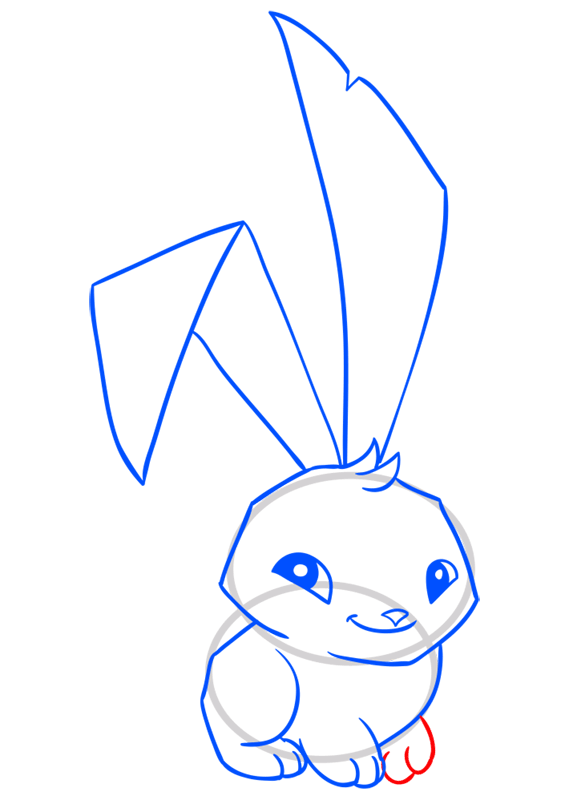 Learn easy to draw Bunny step 10