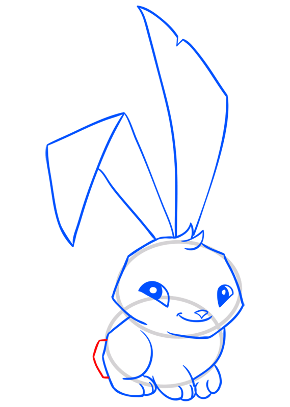 Learn easy to draw Bunny step 11