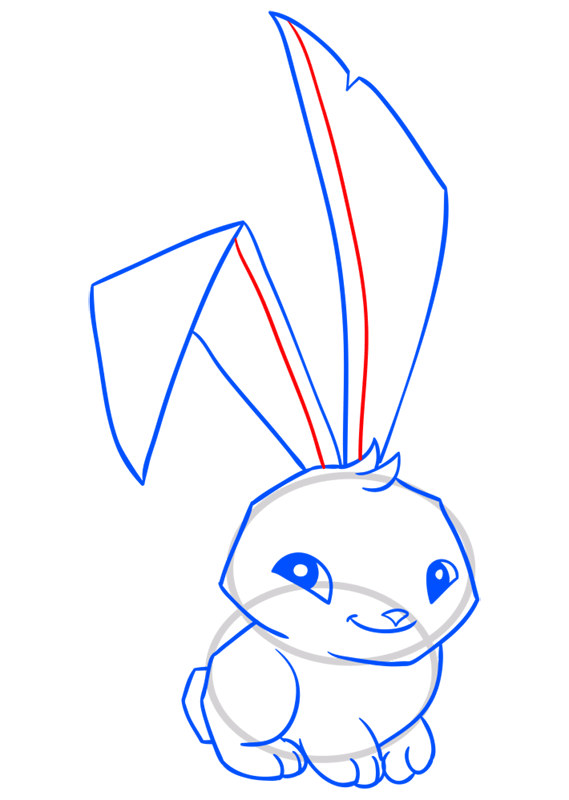 Learn easy to draw Bunny step 12