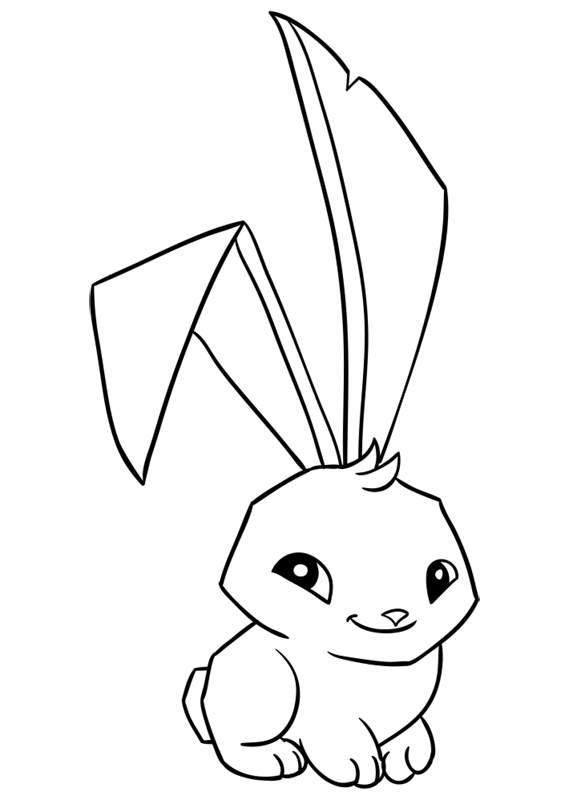 Learn easy to draw Bunny step 13