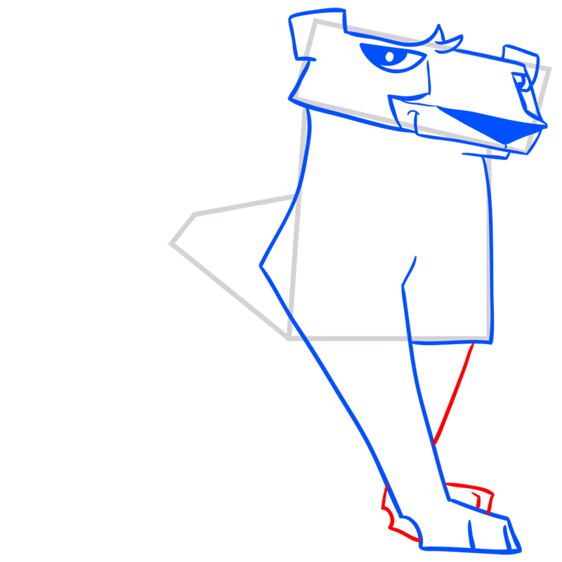 Learn easy to draw Cheetah step 08