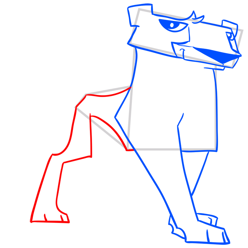 Learn easy to draw Cheetah step 09