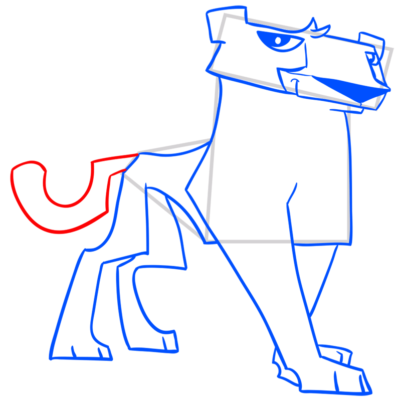 Learn easy to draw Cheetah step 11