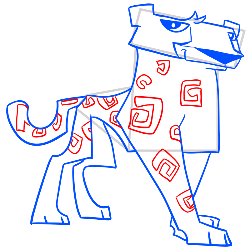 Learn easy to draw Cheetah step 12