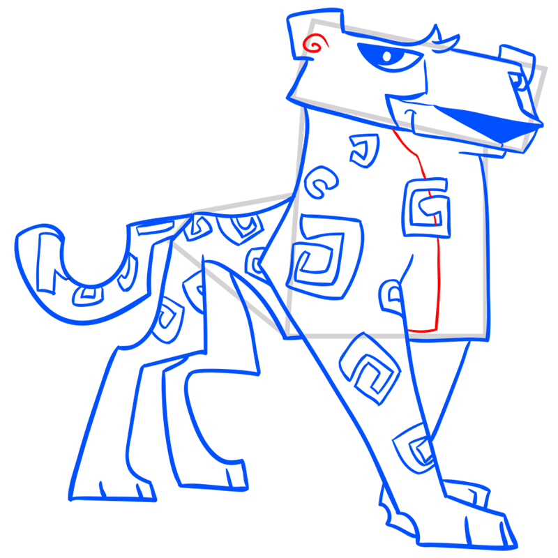 Learn easy to draw Cheetah step 13