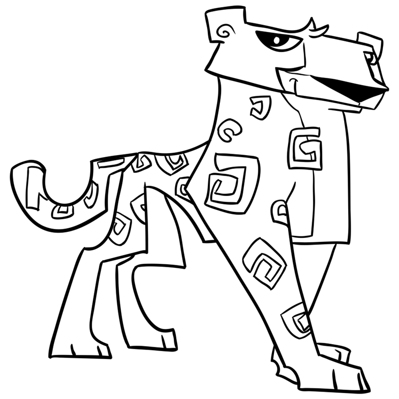 Learn easy to draw Cheetah step 14