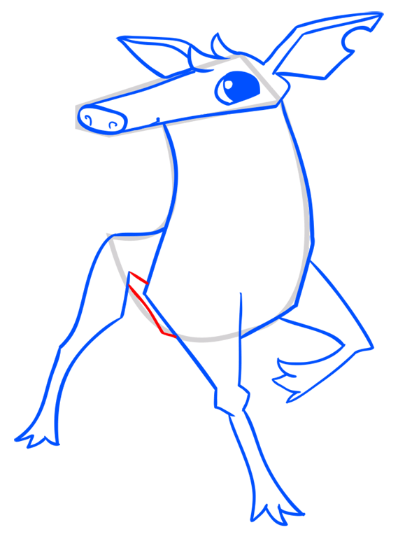 Learn easy to draw Deer step 10