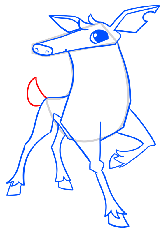 Learn easy to draw Deer step 13