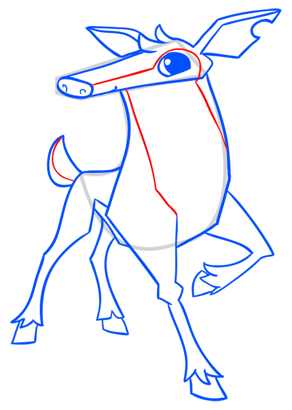 Learn easy to draw Deer step 14