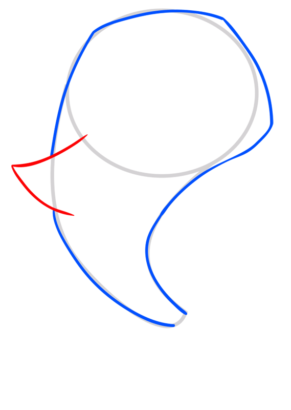 Learn easy to draw Dolphin step 03