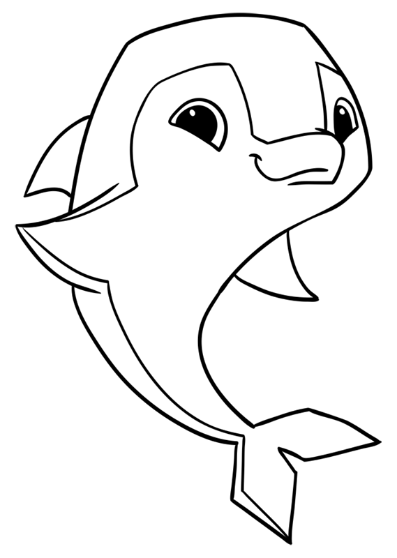 Learn easy to draw Dolphin step 10