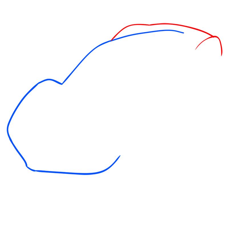 Learn easy to draw Ferrari LaFerrari step 02