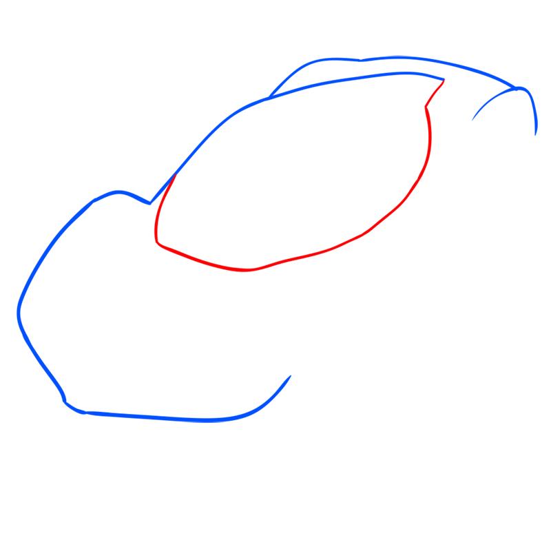 Learn easy to draw Ferrari LaFerrari step 03