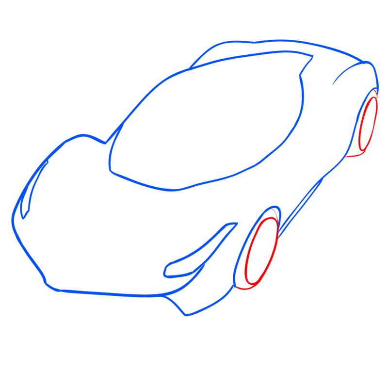 Learn easy to draw Ferrari LaFerrari step 06