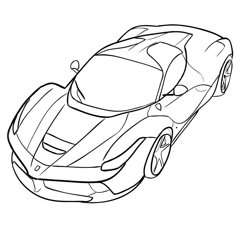 Learn easy to draw Ferrari LaFerrari step 13