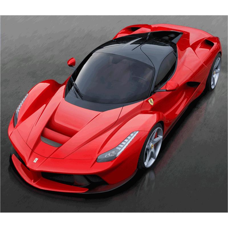 Learn easy to draw Ferrari LaFerrari step 14