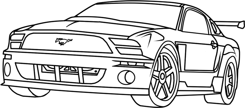 Learn easy to draw Ford GT step 18